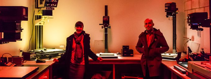 "Aurelia & Alex, inside the main darkroom. Photo credit: <a href=""http://www.svenkovac.com"">Sven Kovac</a>"