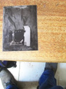 First successful Tintype at the lab, Saturday the 8th of December.