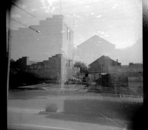 double exposure by Haneen Martin - taken with a Holga camera and hand printed during a Lo-Fi Photography workshop.