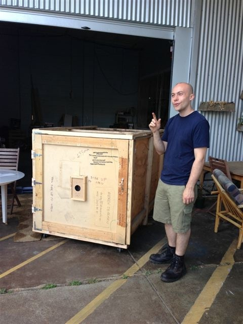 First we put you in the giant pinhole camera...