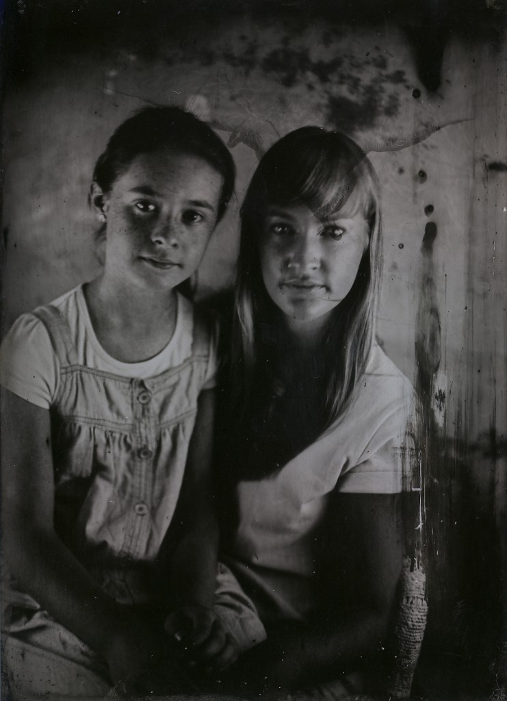 Amber and Jessie in tintype, shot at The Analogue Laboratory in 2014
