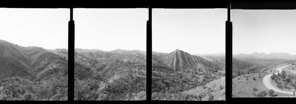 "Lookout, Alex Bishop-Thorpe, 2013. Taken with a 4x5"" Speed Graphic in South Australia's Flinders Ranges. Six frames on Delta 100 sheet film."